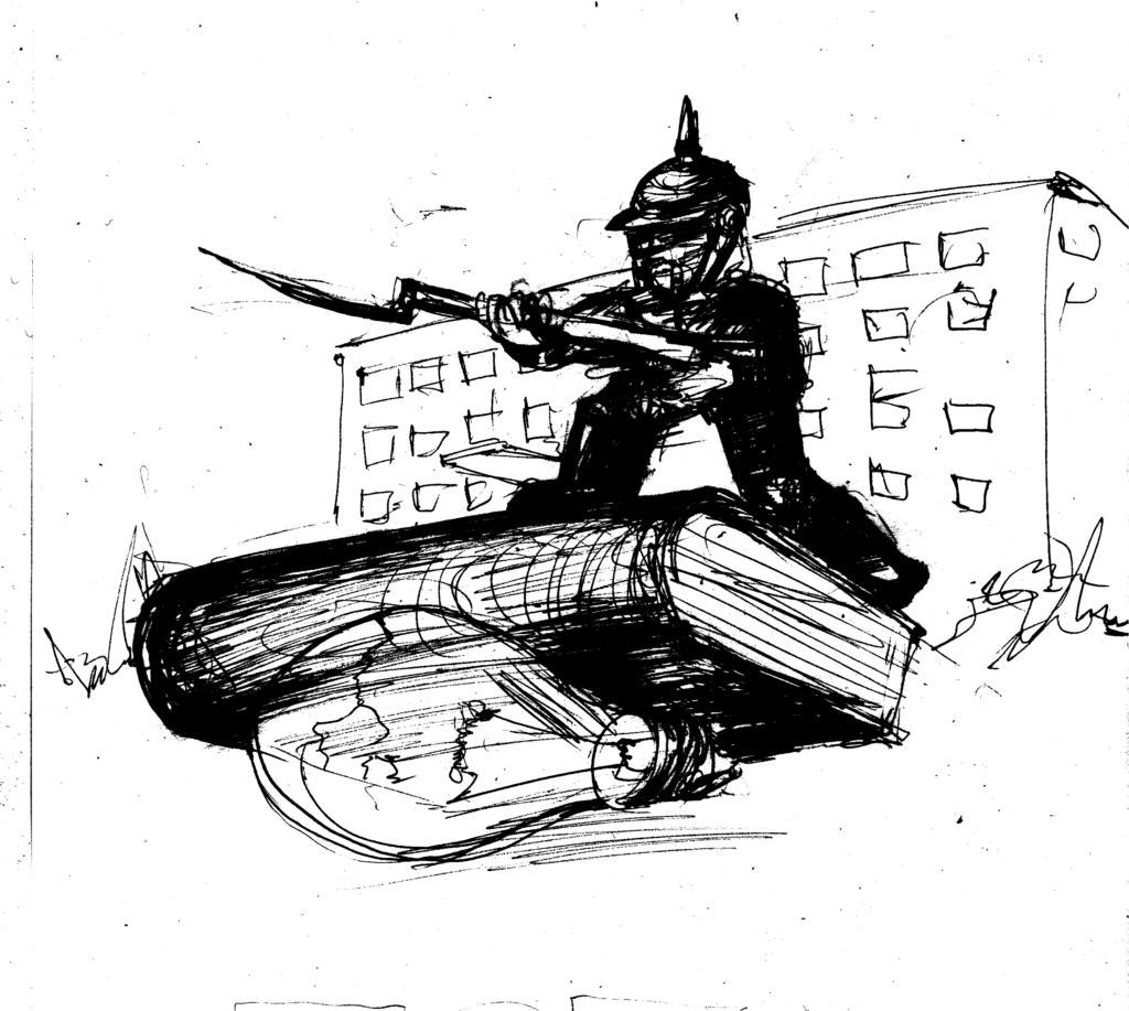 Uczeń jako pruski żołnierz